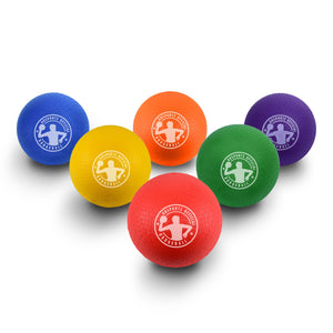 "GoSports 7"" Inflatable No Sting Dodgeball 6 Pack Includes Ball Pump & Mesh Bag Playground Ball playgosports.com"
