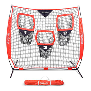 GoSports 6' x 6' Football Training Target Net | Improve QB Throwing Accuracy – Includes Foldable Bow Frame and Portable Carry Case Football playgosports.com