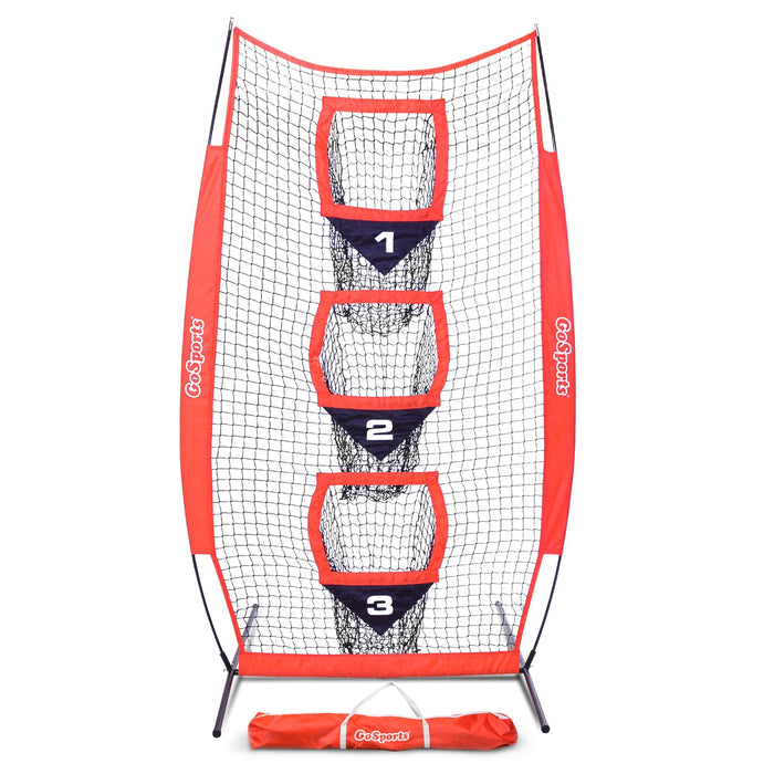 GoSports 8' x 4' Football Training Vertical Target Net | Improve QB Throwing Accuracy