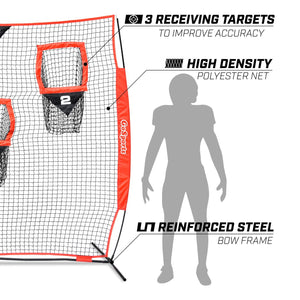 GoSports 8' x 8' Football Throwing Net | Improve QB Throwing Accuracy Football playgosports.com