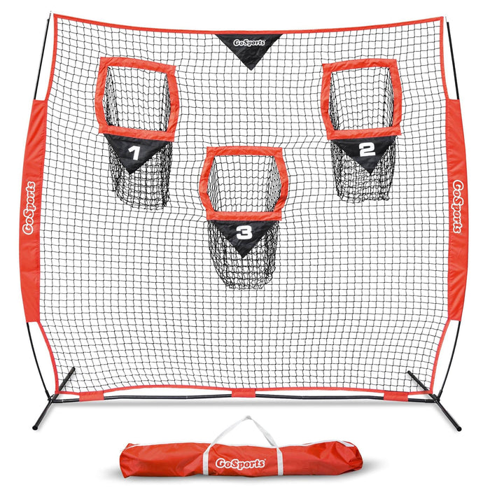 GoSports 8' x 8' Football Throwing Net | Improve QB Throwing Accuracy