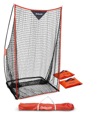 GoSports Football 7' x 4' Kicking Net | Sideline Practice for Punting or Place Kicks | Ultra-Portable Design with Weighted Sand Bags Football playgosports.com