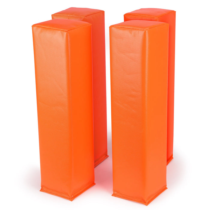 "GoSports Football End Zone Pylons | Set of 4 | Regulation 18"" x 4"" Weighted Field Markers"
