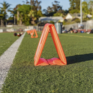 GoSports Football Field Yard Line Markers | Set of 11 | High Visibility Weighted Yardage Markers with Portable Carrying Case Football playgosports.com