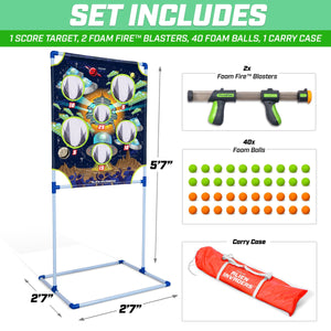 GoSports Foam Fire Alien Invaders Game Set - Includes Target, 2 Toy Blasters and Foam Balls Golf playgosports.com