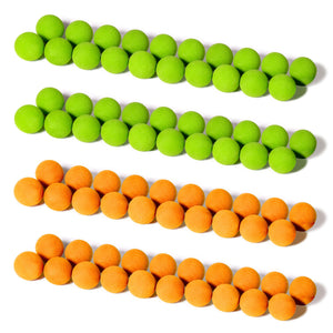 GoSports Foam Fire Replacement Balls - Pack of 80 (40 Green + 40 Orange) Golf playgosports.com
