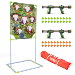 GoSports Foam Fire Trophy Hunt Game Set - Includes Target, 2 Toy Blasters and Foam Balls Golf playgosports.com
