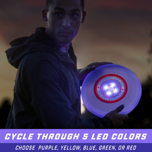 GoSports Ultimate Light Up Flying Disc, 175 grams, with 4 LEDs - Multi Disc playgosports.com