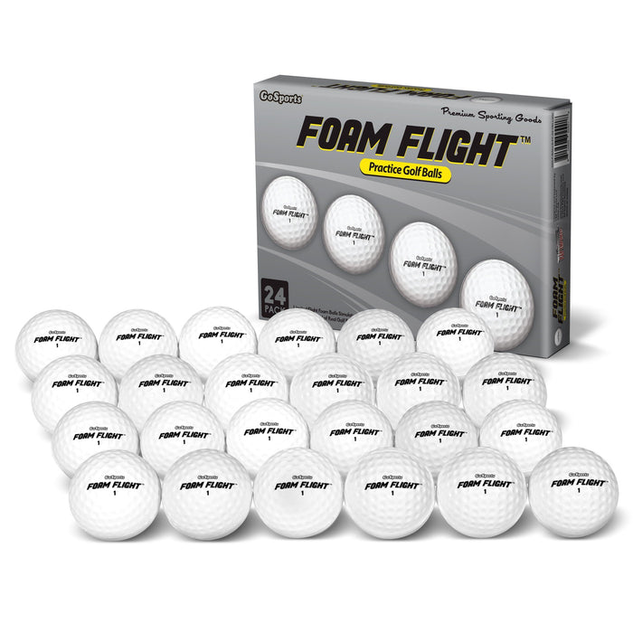 GoSports Foam Flight Practice Golf Balls 24 Pack - White