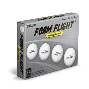 GoSports Foam Flight Practice Golf Balls 24 Pack - White Golf playgosports.com