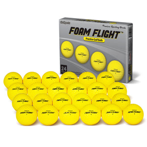 GoSports Foam Flight Practice Golf Balls 24 Pack - Yellow Golf playgosports.com