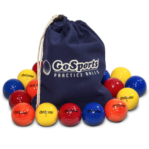 GoSports Practice Golf Balls | Pack of 16 with Canvas Tote Bag Golf playgosports.com
