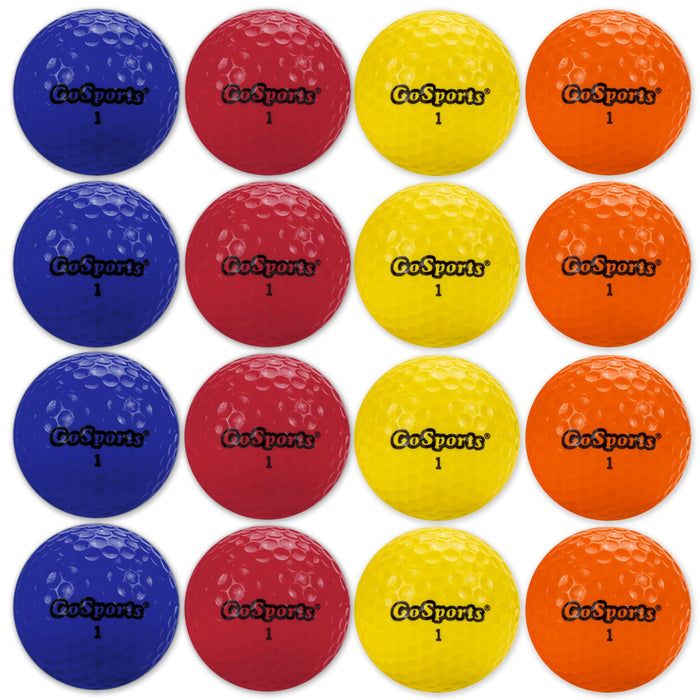 GoSports Practice Golf Balls | Pack of 16 with Canvas Tote Bag