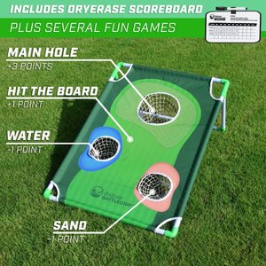 GoSports BattleChip Backyard Golf Cornhole Game | Includes Chipping Target, 16 Foam Balls, Hitting Mat and Carrying Case Team Sports, Golf playgosports.com