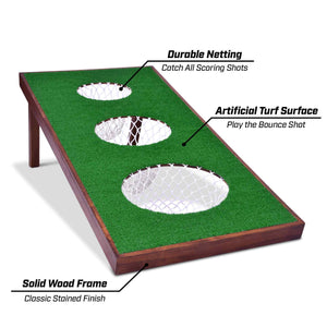 GoSports BattleChip PRO Backyard Golf Cornhole Game