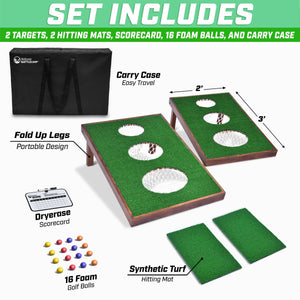GoSports BattleChip VERSUS Golf Game | Includes Two 3' x 2' Targets, 16 Foam Balls, 2 Hitting Mats, Scorecard and Carrying Case Golf playgosports.com