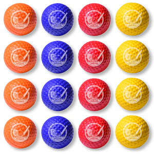 GoSports Foam Golf Practice Balls - 16 Pack | Realistic Feel and Limited Flight | Use Indoors or Outdoors Golf playgosports.com