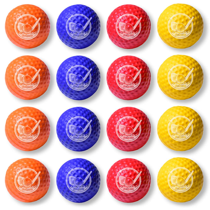 GoSports Foam Golf Practice Balls - 16 Pack - Use Indoors or Outdoors