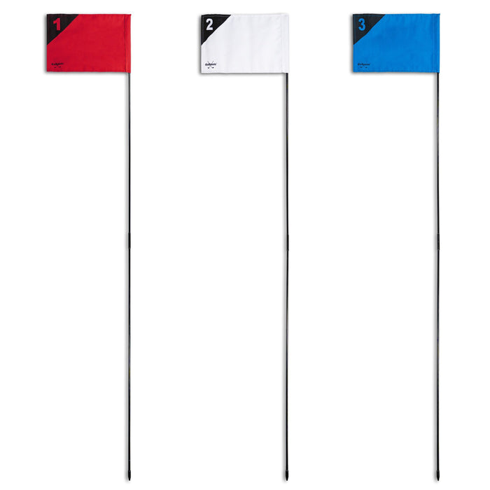 GoSports Golf Flags 3 Pack | Great for Practice and Backyard Family Golf Games