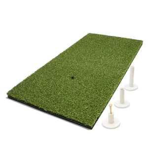 GoSports Golf Hitting Mat | 2x1 Artificial Turf Mat for Indoor/Outdoor Practice | Includes 3 Rubber Tees Golf playgosports.com