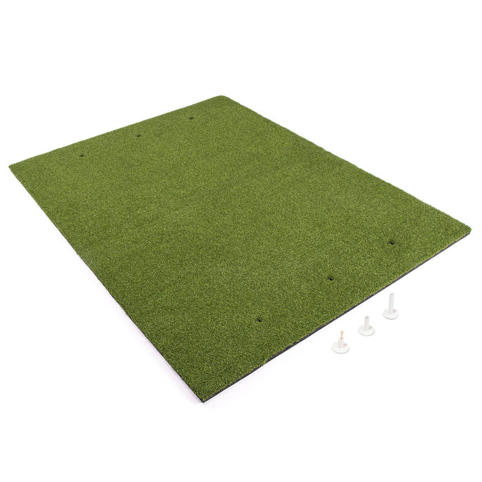 GoSports Golf Hitting Mat | 5x4 Artificial Turf Mat