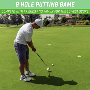 GoSports Pure Putt Challenge Mini Golf Game - Build Your Own Course at Home, the Office or On the Green | Includes 9 Holes, 4 Balls, Dry-Erase Scorecard, Tote Bag & Rules Golf playgosports.com