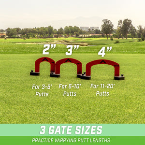 "GoSports Align Putting Gates Practice Set: Includes 3 Premium Metal Gates (2"" / 3"" / 4"") 
