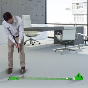 GoSports Puttster Golf Putting Hole Trainer – Alignment Aid with Cup Ramp Return System | Putt Indoors or Outdoors Golf playgosports.com