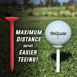 "GoSports 3.25"" Widemouth Plastic Golf Tees 