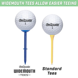 "GoSports 3.25"" Widemouth Stepped Plastic Golf Tees 