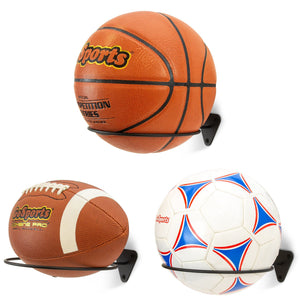 GoSports Wall Mounted Ball Stand Holder for Sports Balls (Basketballs, Soccerballs, Footballs) - 3 Pack Ball Accessories playgosports.com