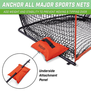 GoSports Sports Net Sand Bags Set of 4 | Weighted Anchors for Baseball Nets, Soccer Goals, Golf Nets, Football Nets, Hockey Nets and More Golf playgosports.com
