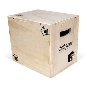 GoSports Fitness Launch Box | 3-in-1 Adjustable Height | Wood Plyo Jump Box for Exercises of All Skill Levels playgosports.com