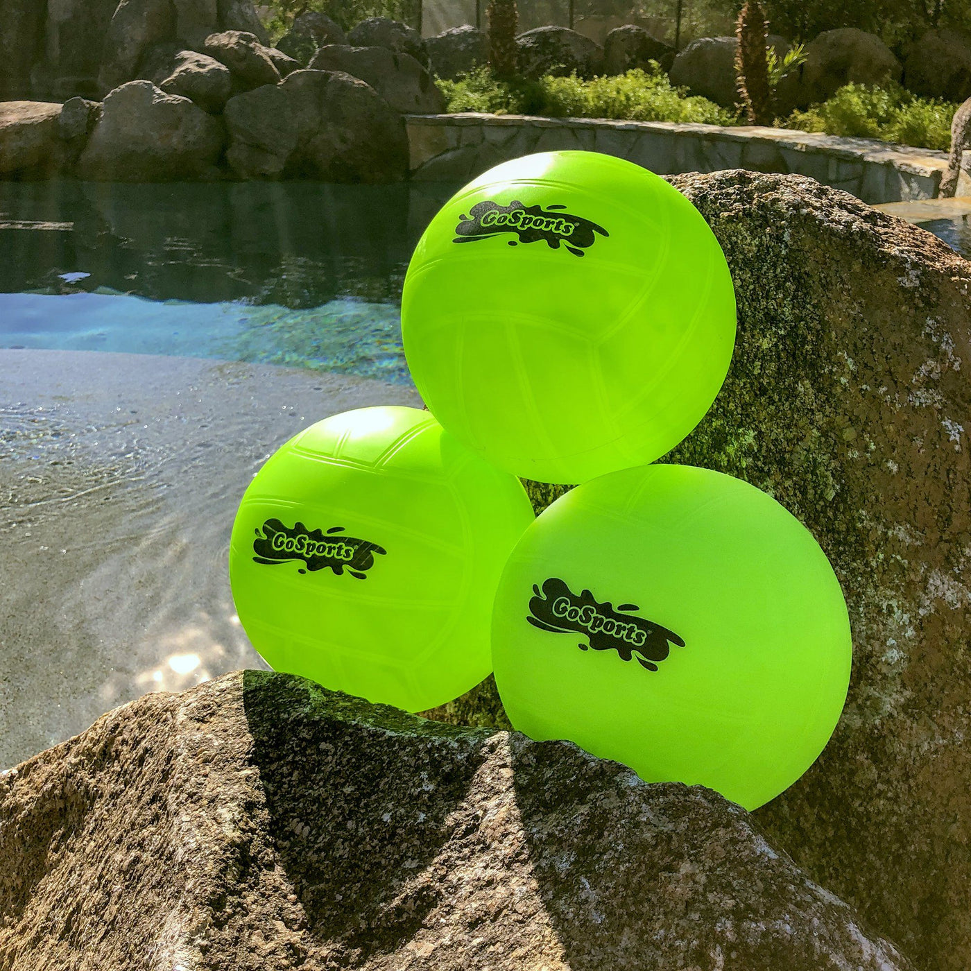 GoSports Water Volleyball 3 Pack | Great for Swimming Pools ...