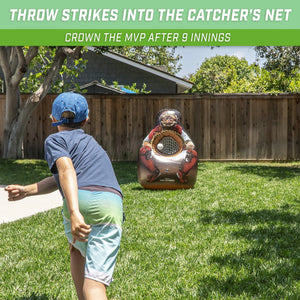 GoSports Inflataman Baseball Toss Challenge | Inflatable Catcher Strike Zone Pitching Game Inflataman playgosports.com