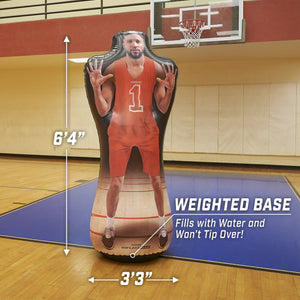 GoSports Inflataman Basketball Defender Training Aid | Weighted Defensive Dummy for Shooting, Dribbling and Driving Drills Inflataman playgosports.com
