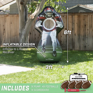 GoSports Inflataman Football Challenge | Inflatable Receiver Touchdown Toss Game Inflataman playgosports.com