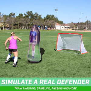 GoSports Inflataman Soccer Defender Training Aid | Weighted Defensive Dummy for Free Kicks, Dribbling and Passing Drillsr Inflataman playgosports.com