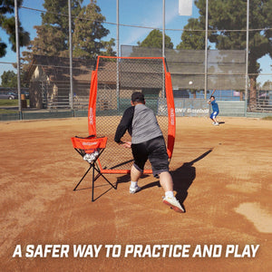 GoSports 7' x 4' I Screen | Baseball & Softball Pitcher Protection Net | Must Have for Safe Training Sports Nets playgosports.com