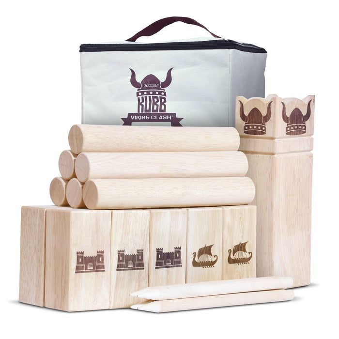 GoSports Regulation Size Kubb Viking Clash Toss Game Set for Kids & Adults