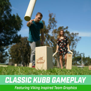 GoSports Regulation Size Kubb Viking Clash Toss Game Set for Kids & Adults Kubb playgosports.com