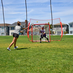 GoSports Regulation Lacrosse Net with Steel Frame | Only Truly Portable Lacrosse Goal for Kids and Adults| Backyard Setup and Takedown in Minutes Lacrosse playgosports.com
