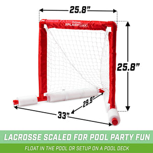 GoSports Lacrosse Floating Pool Goal Set | Includes Lacrosse Water Goal, 2 Lacrosse Sticks and 4 Soft Rubber Balls Lacrosse playgosports.com