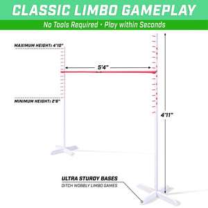 GoSports GET LOW LIMBO Premium Wooden Limbo Game | Sets up in Seconds | Fun for Kids & Adults Limbo playgosports.com