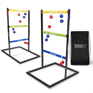 GoSports Pro Grade Ladder Toss Indoor / Outdoor Game Set with 6 Soft Rubber Bolo Balls, Travel Carrying Case and Score Trackers Ladder Toss playgosports.com