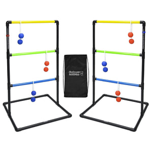 GoSports Indoor / Outdoor Ladder Toss Game Set with 6 Rubber Bolos, Carrying Case and Score Trackers Ladder Toss playgosports.com