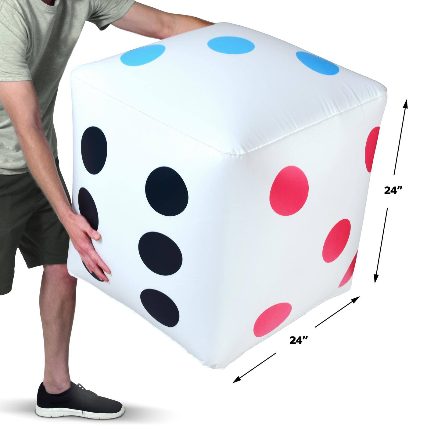 Gosports 2 Pack Giant 2 Inflatable Dice 2 Pack Huge Size With Rapid Playgosports Com