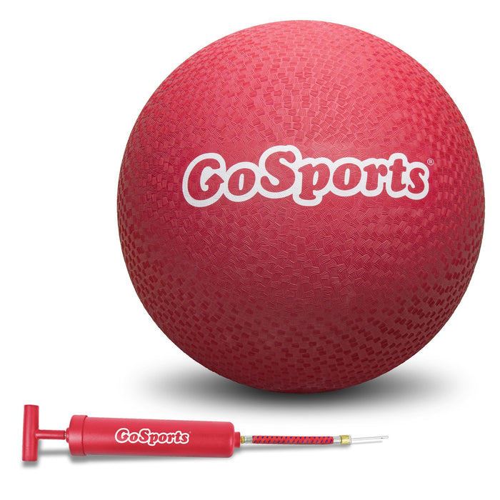 "GoSports Giant 16"" Rubber Playground Ball with Pump - Red"