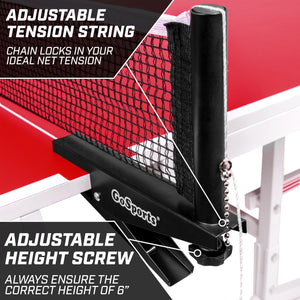 GoSports Universal Regulation Table Tennis Net with Clamps | 72 Inch Tournament Regulation Net with Adjustable Side Posts Pickle Ball playgosports.com