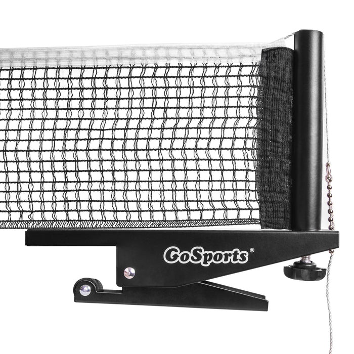 GoSports Universal Regulation Table Tennis Net with Clamps | 72 Inch Tournament Regulation Net with Adjustable Side Posts